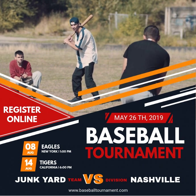 Baseball Tournament Video Template Isikwele (1:1)
