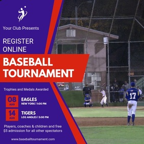 Baseball Tournament Video Template Kwadrat (1:1)