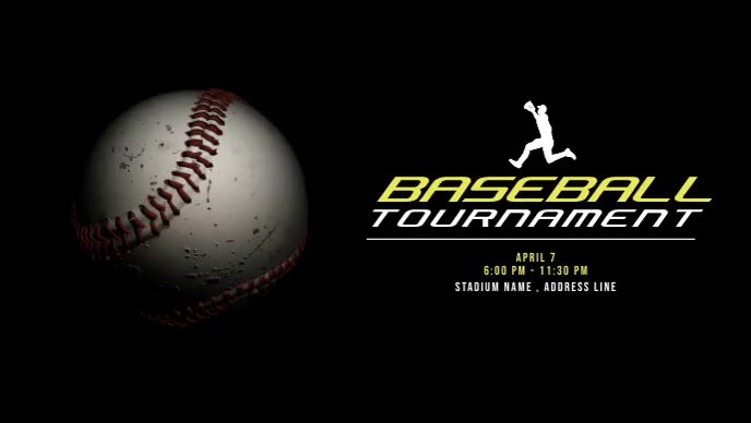 Baseball Tournaments Video Ad template