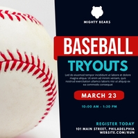 Baseball tryouts Instagram-Beitrag template