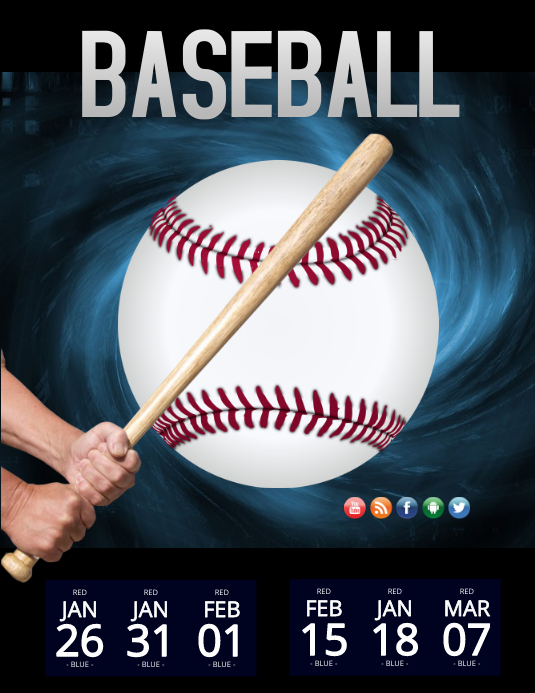 baseball tryouts template postermywall