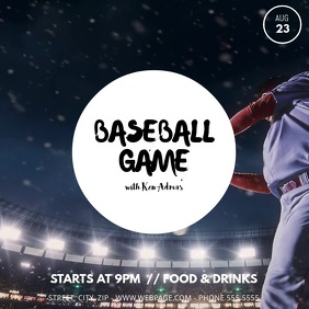 Baseball video ad template Wpis na Instagrama