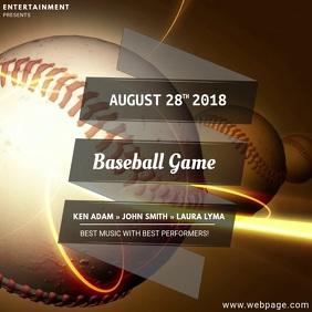 Baseball video ad template