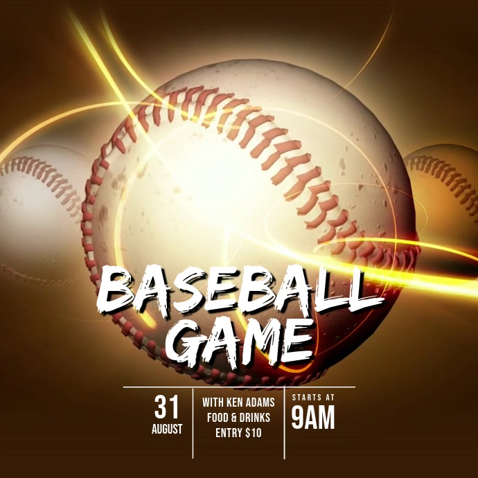 Baseball video ad template 方形(1:1)