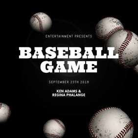 Baseball Video Design Template