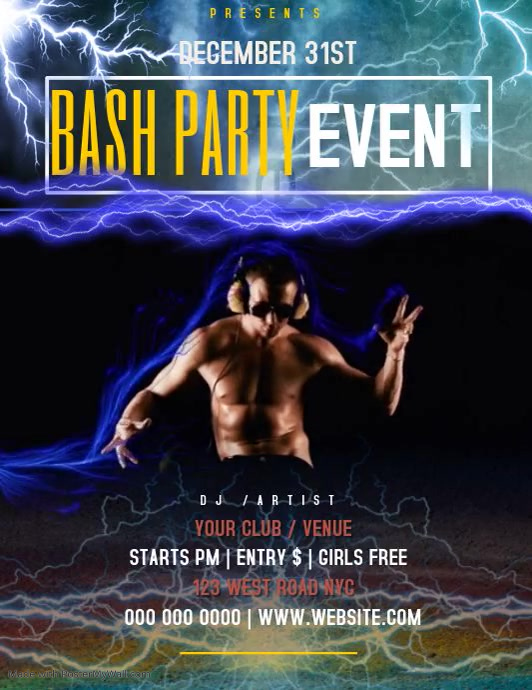 bash party EVENT TEMPLATE