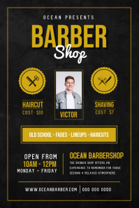 Basic Barber Shop Ad Poster