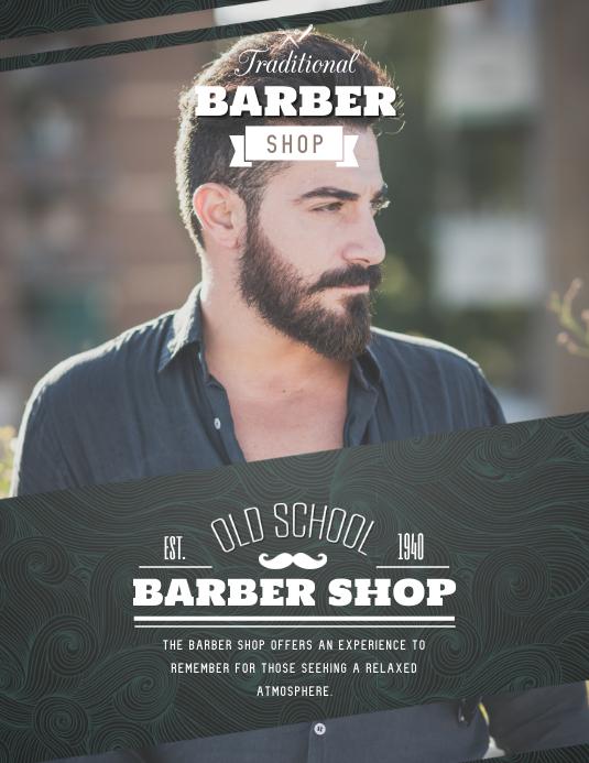 Basic Barber Shop Advert Folheto (US Letter) template