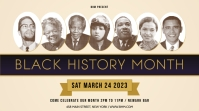 Basic Black History Month Digital Display Image template