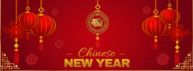 Basic Chinese New Year Facebook Cover Photo template