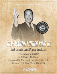 Basic Martin Luther King Jr. Day Event Flyer