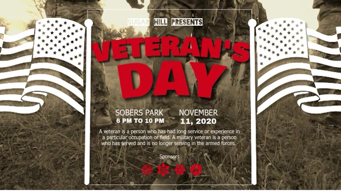Basic Veteran's Day Digital Display Video template