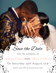 Basic Wedding Invitation Save the Date Flyer
