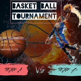 BASKET BALL Message Instagram template