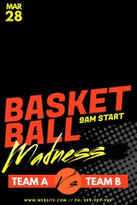 Basket Ball Madness Poster
