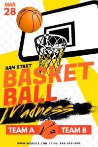 Basket Ball Madness Poster Plakat template
