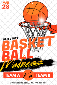 Basket Ball Madness Poster