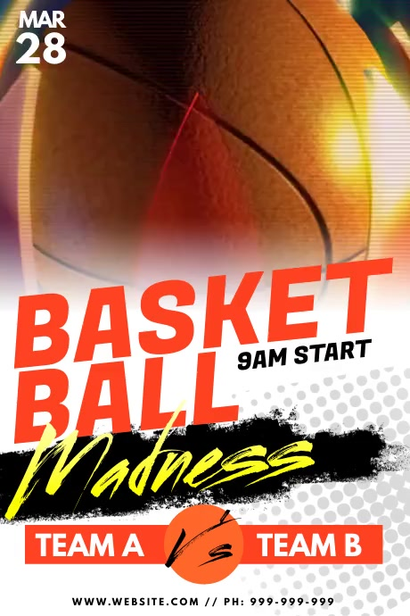 Basket Ball Madness Poster template