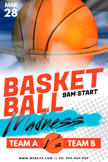 Basket Ball Madness Poster Affiche template