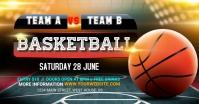 basket ball match Image partagée Facebook template