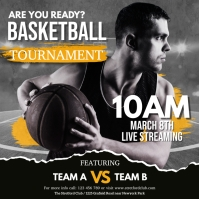 basketball, march madness, basketball match Square (1:1) template