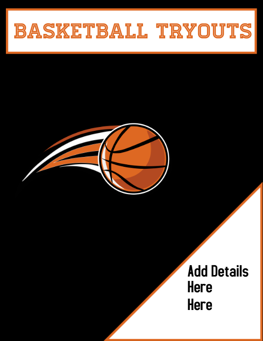 Basketball, Sports Volantino (US Letter) template