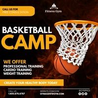 Basketball camp โพสต์บน Instagram template