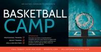 Basketball camp Image partagée Facebook template
