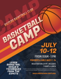 Basketball Camp Flyer