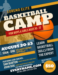 Basketball Camp Flyer Template Рекламная листовка (US Letter)