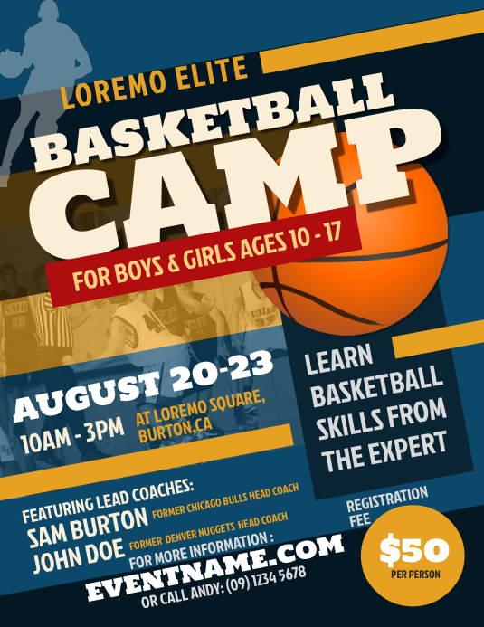 Basketball Camp Flyer Template | PosterMyWall