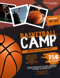 Basketball camp flyer template