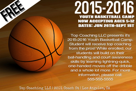 Customizable Design Templates for Basketball Summer Camp   PosterMyWall
