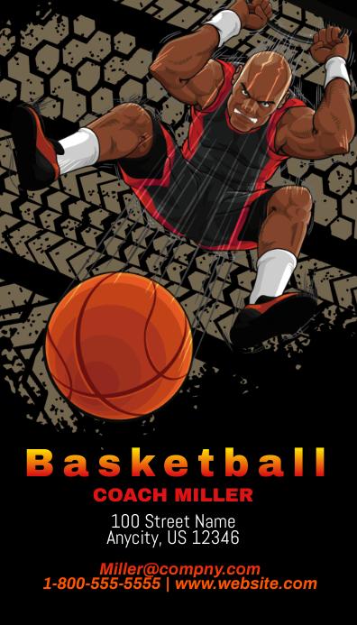 Basketball coach business card template postermywall basketball coach business card colourmoves