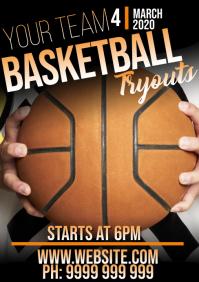 Basketball A5 template