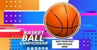 Basketball Facebook begivenhed cover template