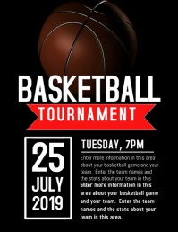 BASKETBALL Flyer (US Letter) template