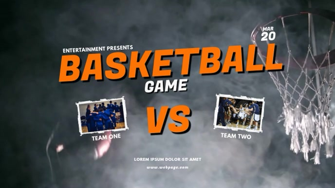Basketball Digital Display Ad Template