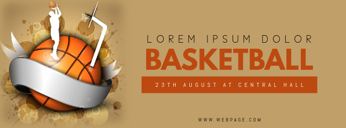 Basketball Event facebook cover template