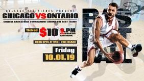 Basketball Event Facebook Cover Video