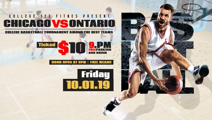 Basketball Event Facebook Cover Video
