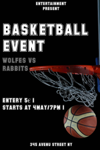 Basketball event flyer template
