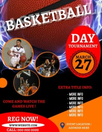 BASKETBALL EVENT TOURNAMENT Flyer Template