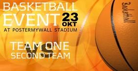 Basketball Event Video Facebook Post Template