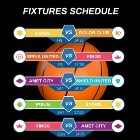 BASKETBALL FIXTURES SCHEDULE Iphosti le-Instagram template