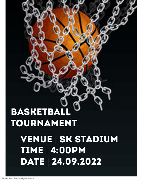 Basketball flyer Volantino (US Letter) template