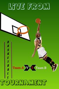 Basketball flyer Poster template