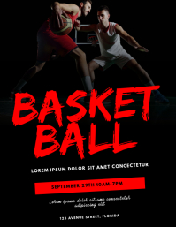Basketball Flyer Design Template