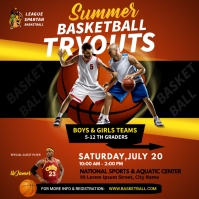 BASKETBALL FLYER TEMPLATE Square (1:1)