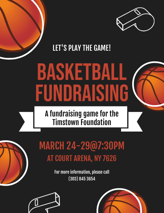 Basketball Fundraising Flyer